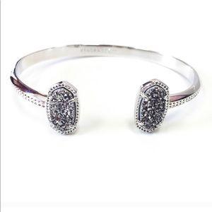 Kendra Scott Elton platinum drusy bracelet